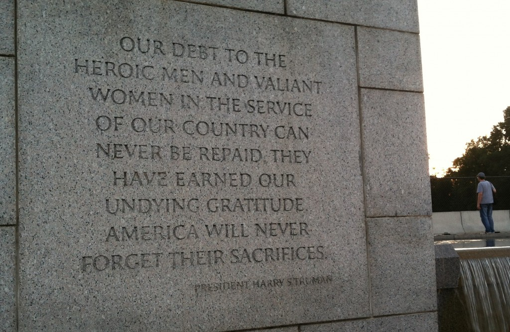 Our debt . . . their sacrifice.
